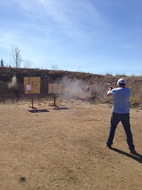 Shooting S&W 500 at the Range